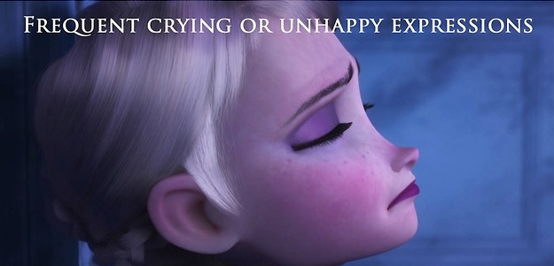 Lloro frecuente o expresiones de infelicidad