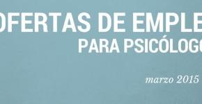 ofertas empleo psicologos marzo