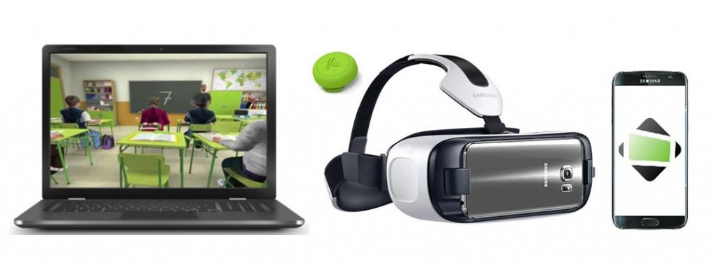 Set de realidad virtual del test AULA
