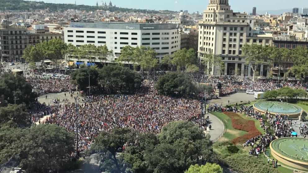 plaza cataluña atentado las ramblas