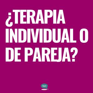 terapia individual o de pareja