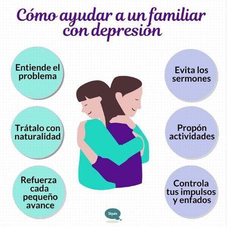 como ayudar a familiar con depresion siquia
